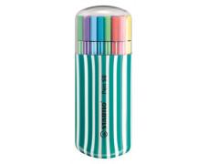 "Fixky, sada, 1 mm, tyrkysové puzdro, STABILO ""Pen 68 Zebrui"", 20 rôznych farieb"