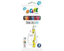 Farebné ceruzky, sada, trojhranné, COOL BY VICTORIA, 12 rôznych farieb