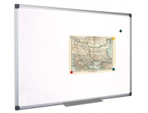 Biela tabuľa, magnetická, 45x60 cm, hliníkový rám, VICTORIA