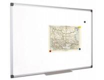 Biela tabuľa, magnetická, 60x90 cm, hliníkový rám, VICTORIA
