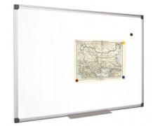 Biela tabuľa, magnetická, 100x200 cm, hliníkový rám, VICTORIA