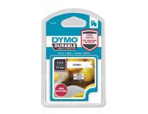"""Kazeta k štítkovačom, 12 mm x 5,5 m, odolná, DYMO """"D1"""", bielo-čierna"""