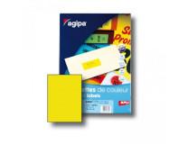 Etikety farebné 210x297mm Agipa A4 100 hárkov fluo žlté