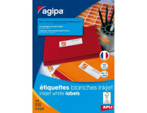 Etikety inkjet 63,5x33,9mm Agipa A4 100 hárkov