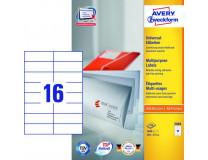 Etikety univerzálne 105x37 mm Avery A4 100 hárkov