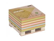 Blok kocka lepiaca na paletke 76x76mm 400 lístkov mix Kraft a pastel