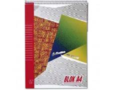 Blok poznámkový Krpa A4 50 listov linajkový horná špirála