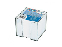 Bloček kocka nelepená 83x83x75mm biela v čírej škatuľke