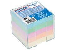 Bloček kocka nelepená 83x83x75mm pastelové farby číra škatuľka