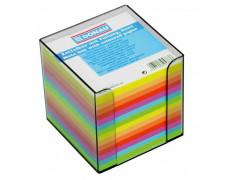 Bloček kocka nelepená 90x90x90mm neónových farieb dymová škatuľka