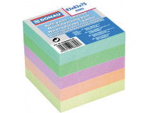 Bloček kocka nelepená 83x83x75mm pastelové farby