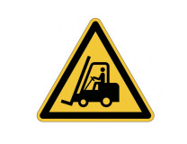 Výstražná značka na podlahu pozor vozíky