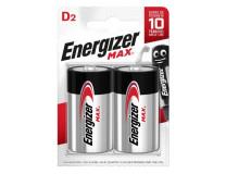 Batéria alkalická Energizer Max 1,5 V, typ D, 2 ks