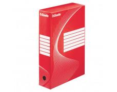 Archívny box Esselte 80mm červený/biely