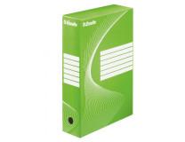 Archívny box Esselte 80mm zelený/biely