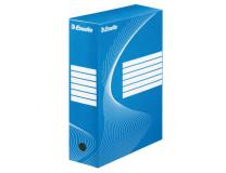 Archívny box Esselte 100mm modrý/biely