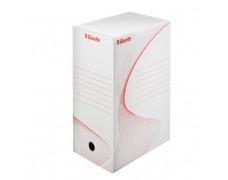 Archívny box Esselte 150mm biely/červený