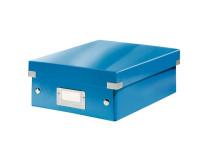 Malá organizačná škatuľa Click & Store modrá
