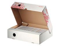 Archívny box Esselte Speedbox so sklápacím vekom 80mm biely/červený