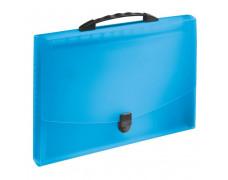 Aktovka plastová s priehradkami a držadlom Esselte VIVIDA modrá