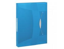 Plastový box s gumičkou Esselte VIVIDA modrý
