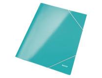 Kartónový obal lesklý s gumičkou Leitz WOW ľadovo modrý