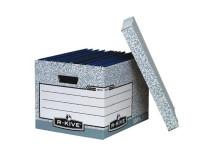 Archívna škatuľa s odnímacím vekom Fellowes BANKERS BOX sivá/biela