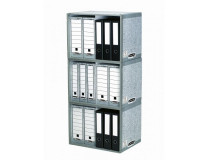 Archív na zakladače Fellowes BANKERS BOX sivý/biely