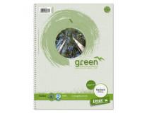 Blok College Format Werk Ursus Green A4 80 listov štvorčekový 60g recyklovaný