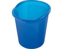 Kôš plastový Helit Economy 13l priesvitný modrý