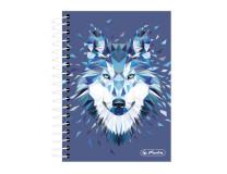 Blok College Herlitz Wild Animals 10x14, 200 listov štvorčekový vlk