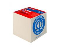 Blok kocka lepená Herlitz 90x90x90mm recyklovaná biela