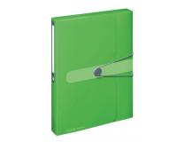 Box na spisy s gumičkou Easy Orga A4 PP zelený