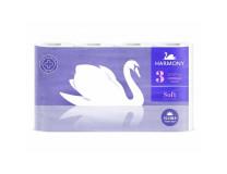 Toaletný papier 3-vrstvový Harmony Soft FLORA Aroma biely 8 ks