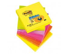 Z-bloček Post-it 76x76 neónové farby, 6 bločkov po 100 lístkov