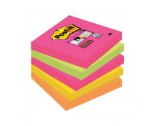 Bločky Post-it Super Sticky `Kapské Mesto` 76x76 neónové farby