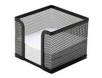 Drôtený stojan na blok _kocka_ 95x80x95mm čierny