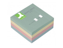 Bloček kocka  Q-CONNECT 76x76mm 400l pastelová