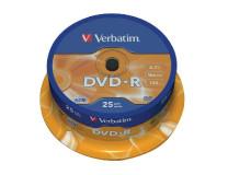 Verbatim DVD-R 16x cake25