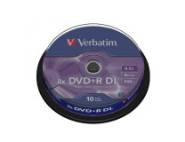 Verbatim DVD+R 8x DL 8,5GB cake 10 ks